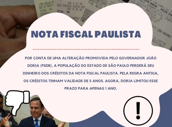 Nota Fiscal Paulista, fique de olho!