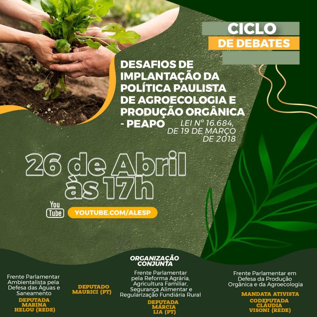 AUDIÊNCIA PÚBLICA DEBATE AGROECOLOGIA E PRODUÇÃO ORGÂNICA