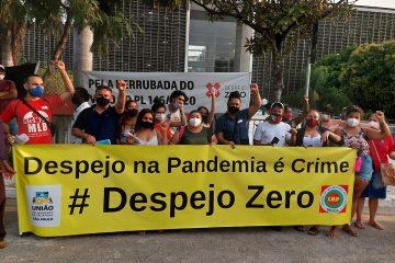 Movimentos protestam contra veto a despejo zero