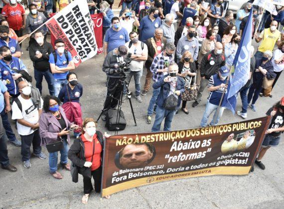 Governo Doria aprova PLC 26 e ataque aos servidores públicos